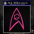 Star Trek Decal Sticker – Engineering Neon Pink Vinyl 120x120