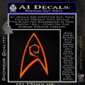 Star Trek Decal Sticker – Engineering Orange Emblem 120x120