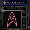 Star Trek Decal Sticker – Engineering Soft Pink Emblem 120x120