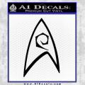 Star Trek Decal Sticker Black – Engineering Vinyl 120x120