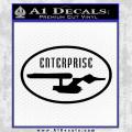 Star Trek Enterprise Decal Sticker Black Euro Vinyl 120x120