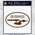 Star Trek Enterprise Decal Sticker Euro Brown Vinyl 120x120