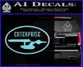 Star Trek Enterprise Decal Sticker Euro Light Blue Vinyl 120x97