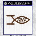 Star Trek Enterprise Decal Sticker Jesus Fish Brown Vinyl 120x120
