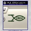 Star Trek Enterprise Decal Sticker Jesus Fish Dark Green Vinyl 120x120