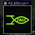 Star Trek Enterprise Decal Sticker Jesus Fish Neon Green Vinyl 120x120