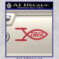 Star Trek Enterprise Decal Sticker Jesus Fish Red Vinyl 120x120