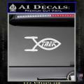 Star Trek Enterprise Decal Sticker Jesus Fish White Vinyl 120x120