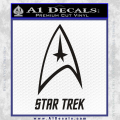 Star Trek Full Emblem Decal Sticker Black Vinyl 120x120