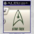 Star Trek Full Emblem Decal Sticker Dark Green Vinyl 120x120