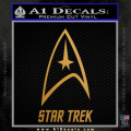 Star Trek Full Emblem Decal Sticker Gold Metallic Vinyl 120x120