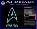 Star Trek Full Emblem Decal Sticker Light Blue Vinyl 120x97