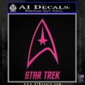 Star Trek Full Emblem Decal Sticker Neon Pink Vinyl 120x120