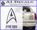 Star Trek Full Emblem Decal Sticker Purple Vinyl 120x97