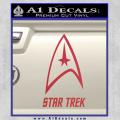 Star Trek Full Emblem Decal Sticker Red Vinyl 120x120