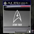 Star Trek Full Emblem Decal Sticker White Vinyl 120x120