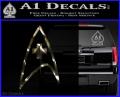 Star Trek Insignia Medical Decal Sticker 3DC Vinyl 120x97