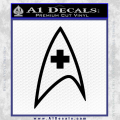 Star Trek Insignia Medical Decal Sticker Black Vinyl 120x120