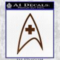 Star Trek Insignia Medical Decal Sticker Brown Vinyl 120x120