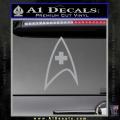 Star Trek Insignia Medical Decal Sticker Grey Vinyl 120x120