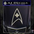 Star Trek Insignia Medical Decal Sticker Metallic Silver Vinyl 120x120