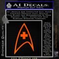 Star Trek Insignia Medical Decal Sticker Orange Emblem 120x120