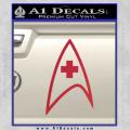 Star Trek Insignia Medical Decal Sticker Red Vinyl 120x120