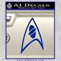 Star Trek Insignia Sciences Decal Sticker Blue Vinyl 120x120