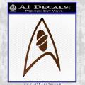 Star Trek Insignia Sciences Decal Sticker Brown Vinyl 120x120