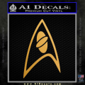 Star Trek Insignia Sciences Decal Sticker Gold Metallic Vinyl 120x120