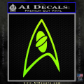 Star Trek Insignia Sciences Decal Sticker Neon Green Vinyl 120x120