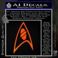 Star Trek Insignia Sciences Decal Sticker Orange Emblem 120x120