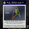 Star Trek Insignia Sciences Decal Sticker Spectrum Vinyl 120x120