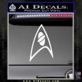 Star Trek Insignia Sciences Decal Sticker White Vinyl 120x120