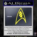 Star Trek Insignia Sciences Decal Sticker Yellow Vinyl 120x120