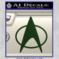 Star Trek Insignia The Next Generation Decal Sticker Dark Green Vinyl 120x120