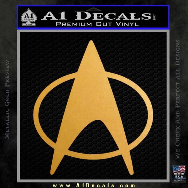 Star Trek Insignia The Next Generation Decal Sticker Gold Metallic Vinyl
