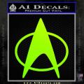 Star Trek Insignia The Next Generation Decal Sticker Neon Green Vinyl 120x120