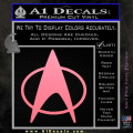 Star Trek Insignia The Next Generation Decal Sticker Soft Pink Emblem 120x120