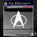 Star Trek Insignia The Next Generation Decal Sticker White Vinyl 120x120