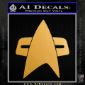 Star Trek Insignia Voyager Decal Sticker Gold Metallic Vinyl 120x120