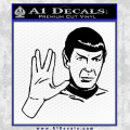 Star Trek Spock Decal Sticker Black Live Long And Prosper Vinyl 120x120