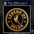 Starbucks Legend Of Zelda D2 Decal Sticker Gold Metallic Vinyl 120x120
