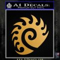 Starcraft Zerg Symbol Decal Sticker Gold Metallic Vinyl Black 120x120