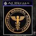 Starfleet Medical Academy Star Trek Decal Sticker Gold Metallic Vinyl 120x120