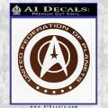 Starfleet Seal Alternate Reality Decal Sticker BROWN Vinyl 120x120
