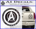 Starfleet Seal Alternate Reality Decal Sticker Carbon FIber Black Vinyl 120x97