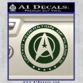Starfleet Seal Alternate Reality Decal Sticker Dark Green Vinyl 120x120