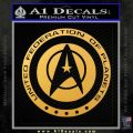 Starfleet Seal Alternate Reality Decal Sticker Gold Vinyl 120x120