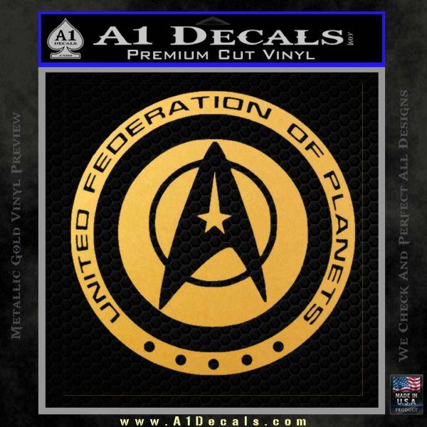 Starfleet Seal Alternate Reality Decal Sticker Gold Vinyl